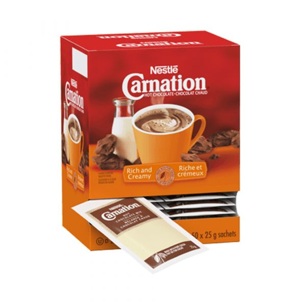 Nestlé Carnation Hot Chocolate Rich and Creamy Sachets (175 ml serving)